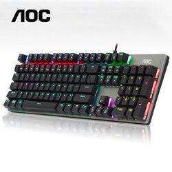 PC Gamer 104, Llave Verde té negro rojo, interruptor ergonómico lineal, eje de acción alternativo retroiluminado, USB, juegos por cable, Teclado mecánico