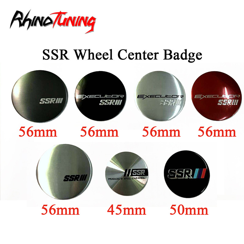 4pcs 56mm Auto Tuning Sticker Executor SSR Wheel Center Emblem Badge Car Styling Rim Hub Sticker