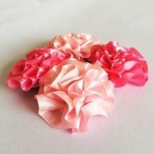 1 Pcs/lot Kids Girls Rose Hair Clip Band Hairpins girls Flower Pumpkin Fashion Gift hair accessories