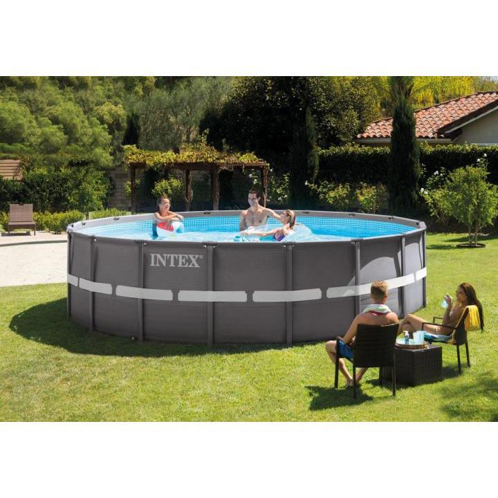 Scaffold Pool Round Series Ultra, 549 х132см, Ladder, Decking, Awning, Filter Pump Ac220v... Intex, арт.26330