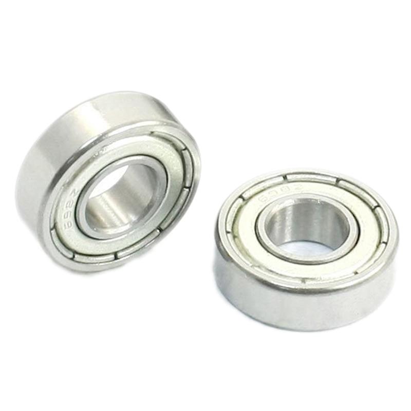 8mm x 19mm x 6mm Sealed Deep Groove Radial Ball Bearings 698Z 10 Pcs