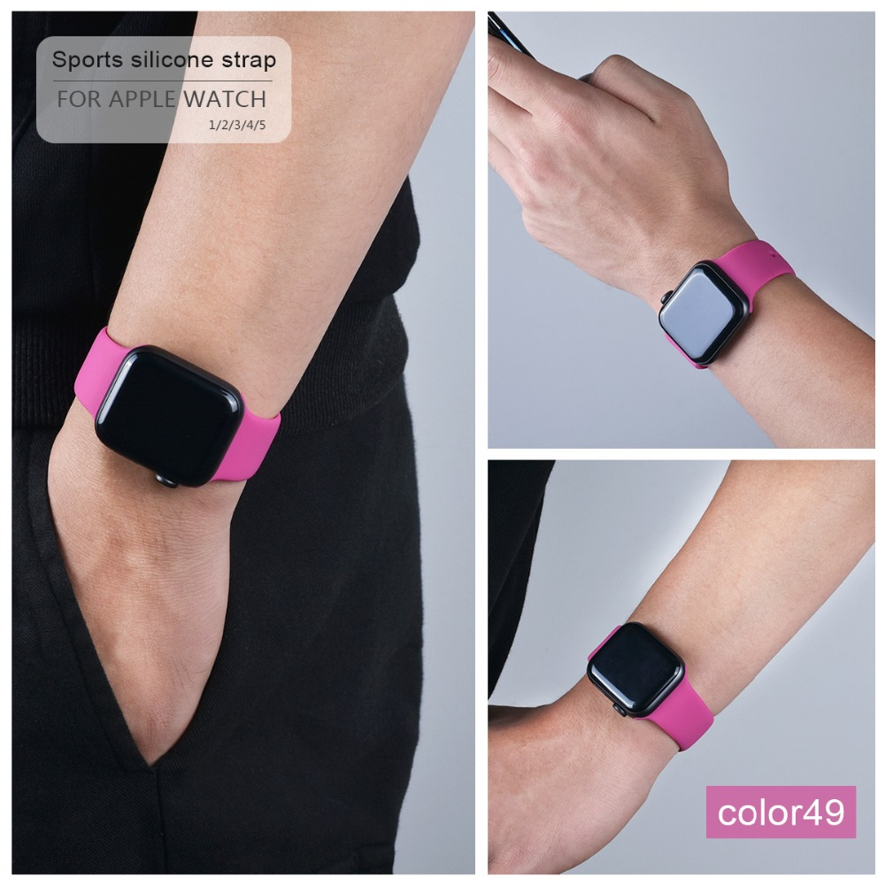 Colorful Silicone Band for Apple Watch 123