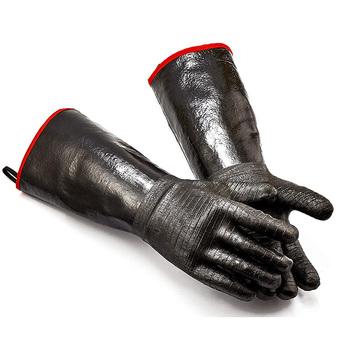 Promocja! Rękawice do grilla-Grill gotowanie rękawic do grillowania do przenoszenia ciepła na frytownicę Grill lub piekarnik Wodoodporny H tanie i dobre opinie Antypoślizgowe CN (pochodzenie) Other