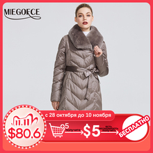 MIEGOFCE 2020 New Collection Womens Jacket With Rabbit Collar Women Winter Coat Unusual Colors That a Windproof Winter Parka