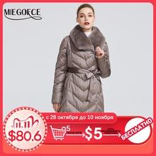 Miegofce 2020 新コレクションの女性のウサギの襟の女性の冬珍しい色防風冬パーカー