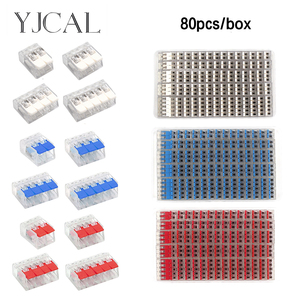 Wire Connector Set Box Universal Compact Terminal Block Lighting Hybrid Butt Joint Quick Connector Electrician Tool Set China(China)