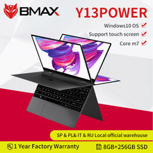 BMAX Y13power Intel Core m7-6Y75 360 ° laptopa 13.3 cal Notebook Windows 10 8GB LPDDR4 256GB SSD 1920*1080 ekran dotykowy IPS laptopy