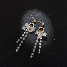 Korean Crystal Pearl Temperament Tassel Earrings Personalized Hipsters Drop Earrings Jewelry Earrings