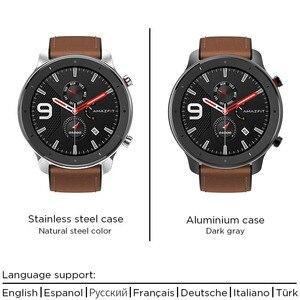 Image 4 - 2019 Amazfit GTR 47mm Smart Watch with GPS 5ATM Waterproof 24 Days Battery Life 12 sports mode BluetoothAMOLED Screen