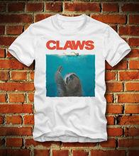 T SHIRT CLAWS SLOTH DER WEISSE HAI JAWS FAULTIER KLAUEN HORROR MOVIECartoon t shirt men Unisex New Fashion tshirt free shipping