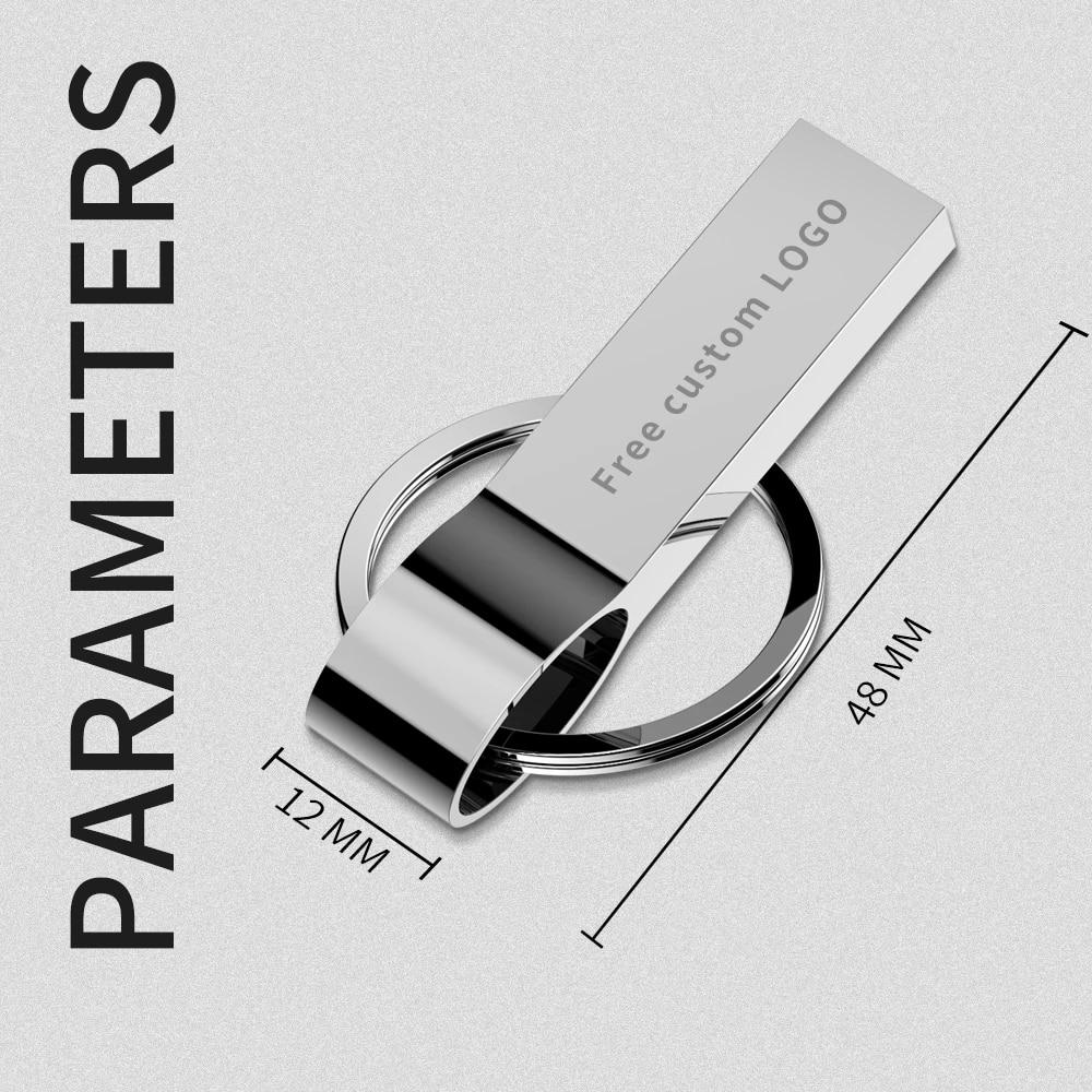 usb flash drive metal Silver usb 3.0 pendrive 64gb 128gb 32gb 16gb 8gb 4gb usb stick pen drive Memory Stick key ring Free logo (3)