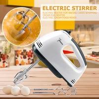 7 velocidad batidora eléctrica pastel de batidor de huevo comida licuadoras automática crema masa agitador para el hogar Cocina Para hornear herramientas