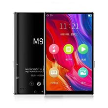 M9 Wireless MP4 Player With Speaker Touch Screen 4 inch HD HIFI 8GB Music MP3 MP4 Player Support Video TF Card