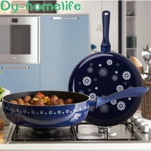 28cm Maifan Stone Non-stick Pan Korean Aluminum Alloy Frying Pan Frying Pan Pan Open Flame Available Home Kitchen Supplies air frying pan new special price large capacity intelligent oil smoke free fries machine automatic electric frying pan 220v 3l