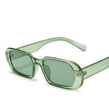 Petites lunettes de soleil ovales pour femmes, 1 pièce, mode, Vintage, vert, rouge, pour voyage, Style UV400