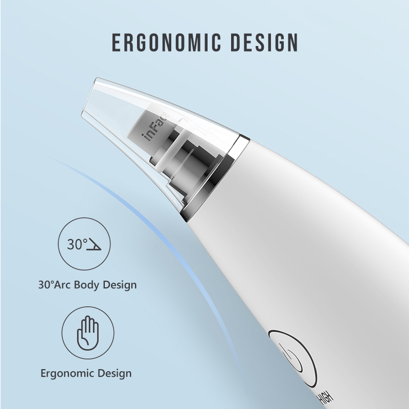 Image 3 - Inface Blackhead Removal Instrument Remove Blackheads Clear Acne Electric Suction Face Cleansing Facial Skin care Beauty MachineSmart Remote Control   -