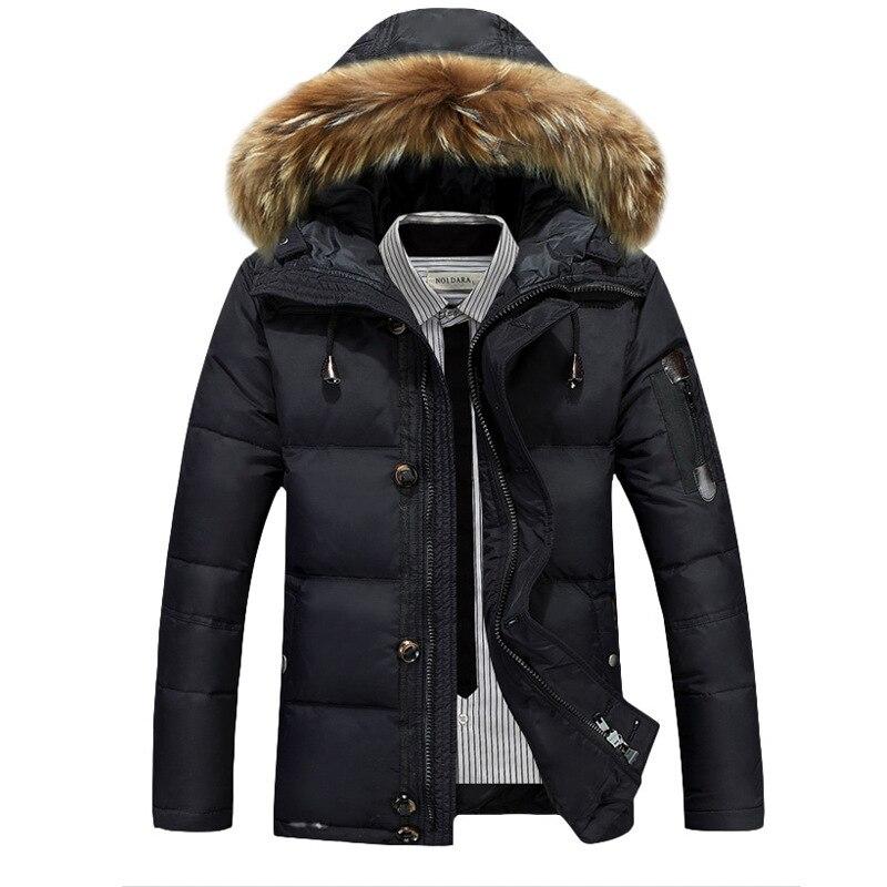 Мужская Новинка 2019, пуховик, повседневная мужская зимняя куртка, ветровка, белая куртка на утином пуху, Мужская толстовка/пальто для мужчин/Мужское пальто - 4