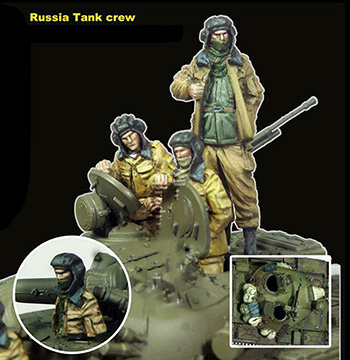 1/72  Ancient Russia Tank Crews   (NO TANK ) Resin Figure Model Kits Miniature Gk Unassembly Unpainted