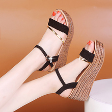 New Summer Sandals for Women Fashion Platform Sandals Wedge Female Casual High Increas Shoes Ladies Ankle Strap Open Toe Sandals women sandals wedge platform sandals summer slip on ladies high heels shoes fashion open toe casual female footwear 2020