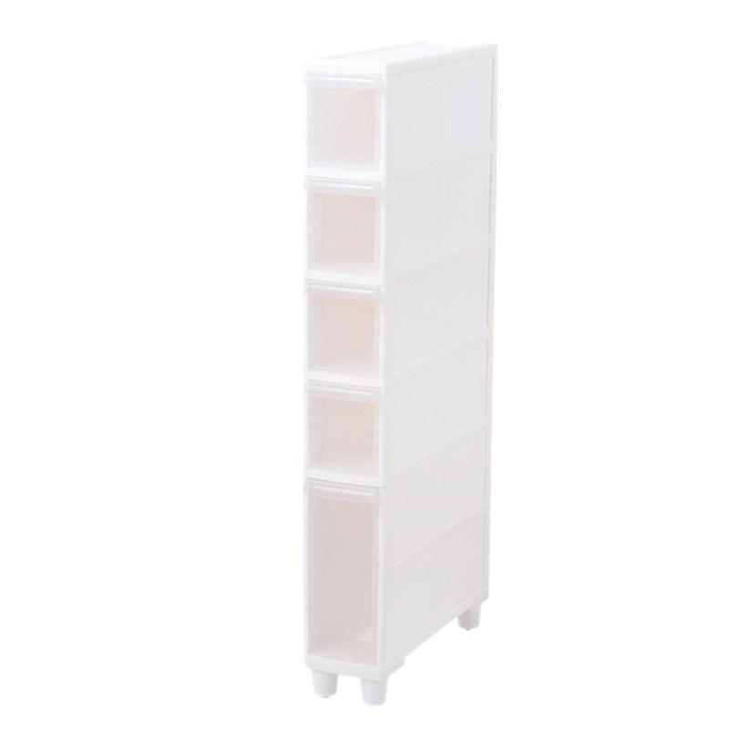 14CM Quilting Storage Rack Toilet Narrow Slit Storage Rack Drawer Storage Cabinet Bathroom Quilting Storage Cabinet