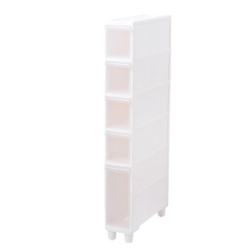14CM Quilting Storage Rack Toilet Narrow Slit Storage Rack Drawer Storage Cabinet Bathroom Quilting Storage Cabinet