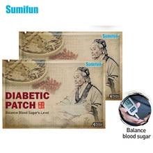 Sumifun 6 Pcs Diyabetik Yama Çin Bitkisel Stabilize Denge Kan Şekeri Seviyesi Düşük Şekeri Tıbbi Sıva D1790