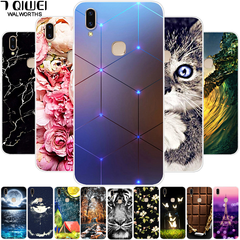 Cases For Vivo V9 Case 6.3'' Silicone Soft Phone Case For Vivo V9 Youth Y85 Case TPU Coque For Vivo Y11 2019 Back Cover
