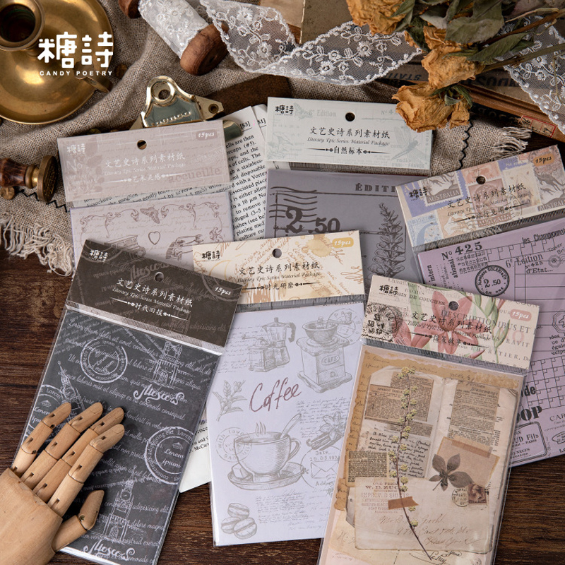 Renaissance Journal Background Decorative Stickers Scrapbooking Stick Label Diary Stationery Album Vintage Flower Stickers