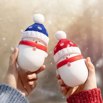 Prezenty świąteczne śliczne ogrzewacze do rąk przenośne ogrzewanie ręczne kuchenka Snowman Cartoon 6000mAh moc ładowanie ogrzewanie szybkie ogrzewanie tanie i dobre opinie CN (pochodzenie) 6 Hours Under 50 W i Pod