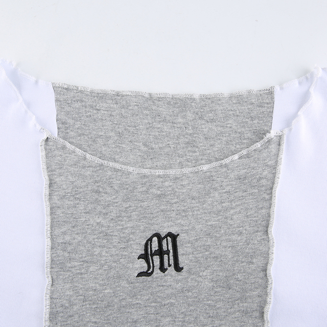 T-Shirt with Patchwork horizontal colors