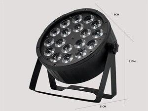 Image 3 - A grande lente 18x12w conduziu a luz da paridade rgbw 4 em 1 dmx512 plástico par luz profissional da fase dj luz