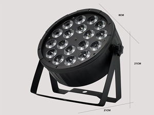 Image 3 - Large Lens 18x12w Led Par Light RGBW 4 in 1 DMX512 Plastic Par Light Professional Stage Dj Light