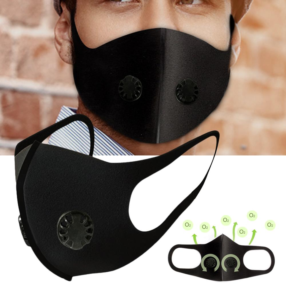 In Stock Reusable Anti-flu Dust Allergy Antivirus Mask PM2.5 Single And Double Air Valve Wholesale Quick Delivery Dropshipping