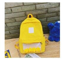 Funny Color School Bag Waterproof Canvas Book Sweet Minty Girl Backpack