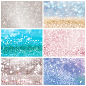 Image 1 - Laeacco doğum günü partisi Photophone ışık Bokeh Glitters Polka Dots bebek duş yenidoğan portre fotoğrafçılığı arka planında arka