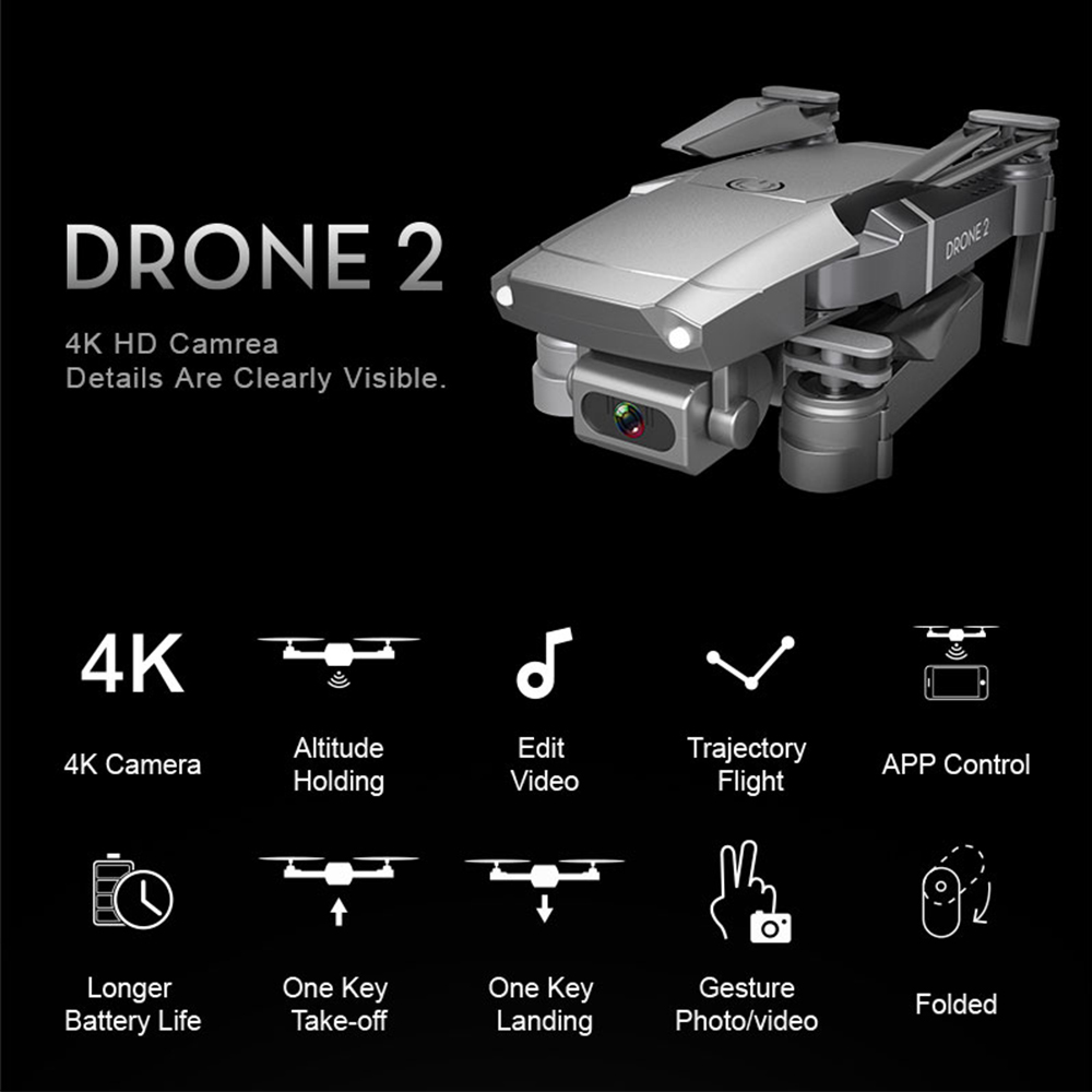 2020 NEW E68 Drone HD wide angle 4K WIFI 1080P FPV Drones video live Recording Quadcopter Height To maintain Drone Camera Toys 2