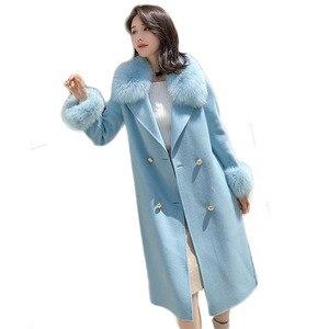 Image 2 - ขนสัตว์จริงฟ็อกซ์ขนสัตว์ 2019 ฤดูใบไม้ร่วงฤดูหนาวผู้หญิงOutwearแจ็คเก็ตWarmยาวสีเทาขนสัตว์เสื้อแจ็คเก็ตขนสุนัขจิ้งจอกจริง