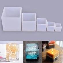 Cube Форма лампы в форме свечи силиконовые формы diy гипса гипсовые