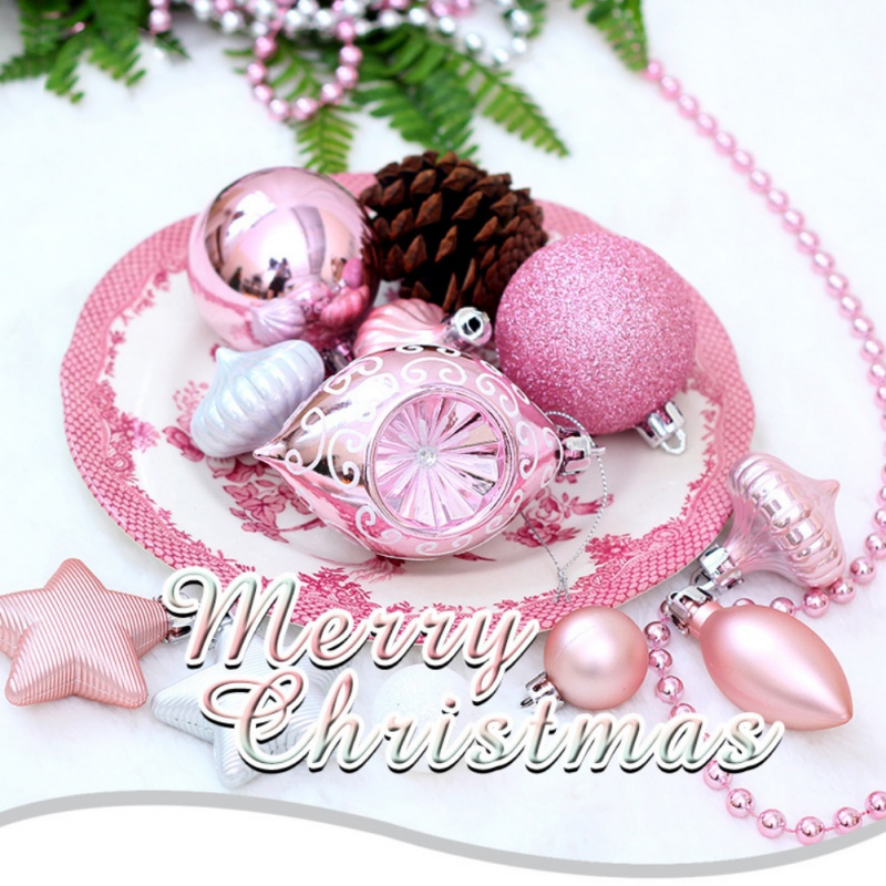 90 unids/set adornos de bolas de Navidad surtidos a prueba de golpes decoraciones de fiesta de Navidad adornos de árbol de Navidad colgantes - 4