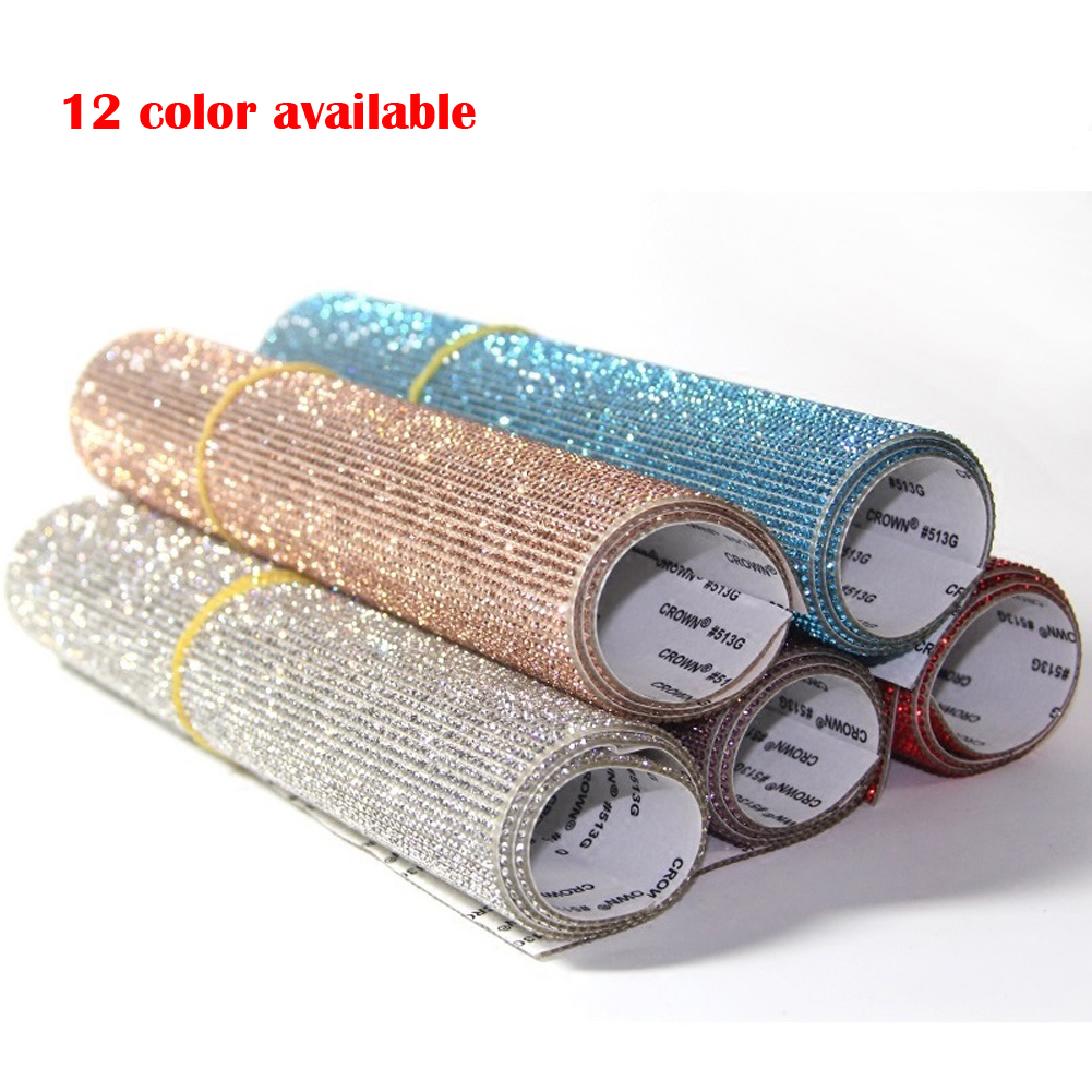 Crystals Stickers DIY Decoration Sticker With Rhinestone For Car Home Mobile Phone Laptop Personalized Styling Stickers