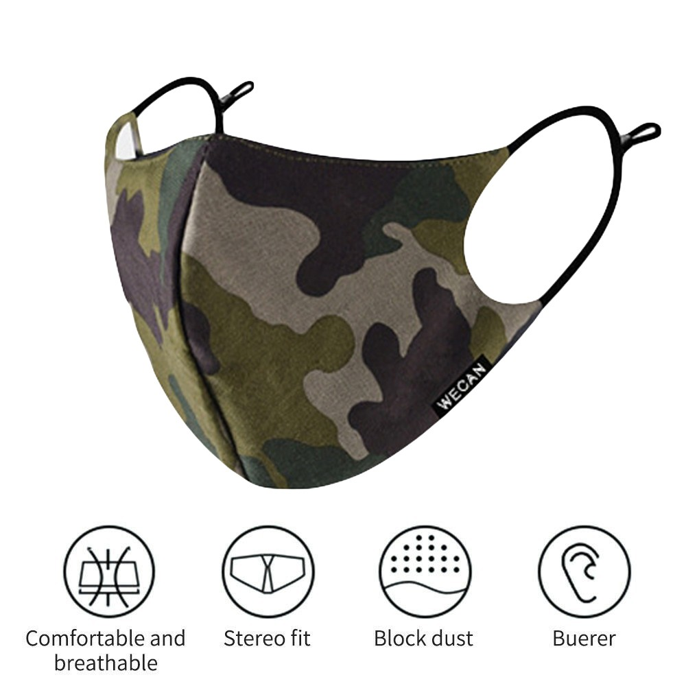 Классическая камуфляжная маска унисекс для взрослых Тканевая маска для лица моющаяся PM 2,5 Защитная многоразовая маска для рта
