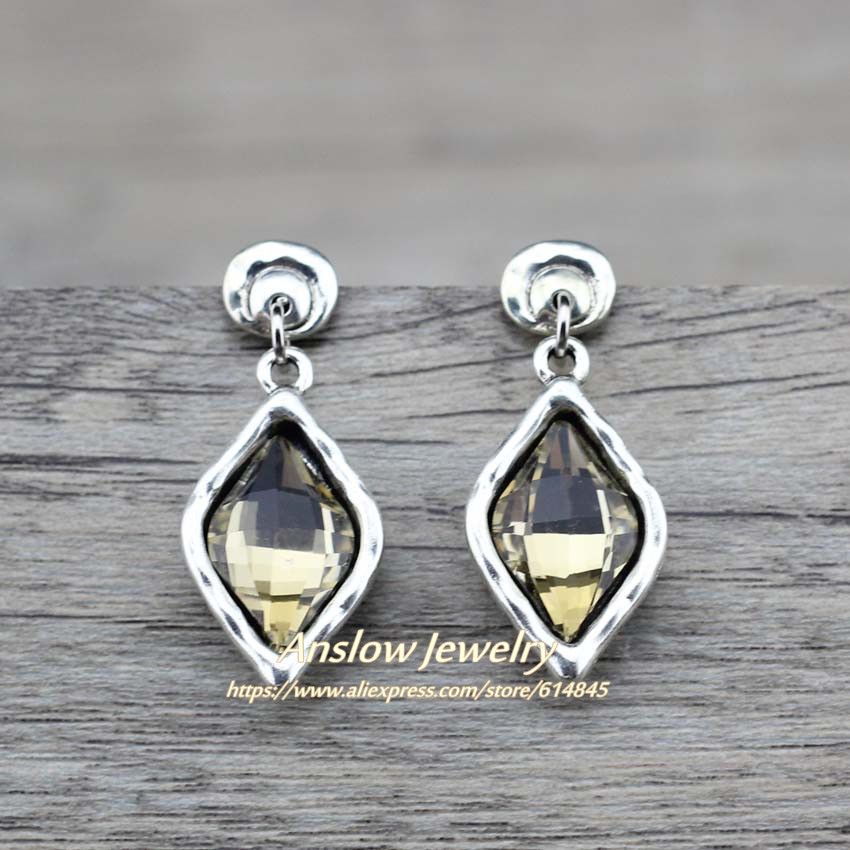 Anslow New Brand Bijoux Charms Fashion Jewelry Water Drop Crystal Good Quality Earrings For Women Female Mothers' Gift LOW0146AE