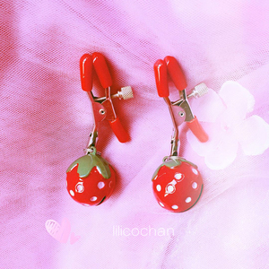 Image 3 - Handmade 1 Pair Adjustable Strawberry Nipple Clamps Clit Clamp Adult games Sex Toys for Couples Fetish Breast Labia Clips