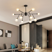 led Postmodern Iron Crystal Fabric Chrome Chandelier Lighting Lamparas De Techo Suspension Luminaire Lampen For Foyer