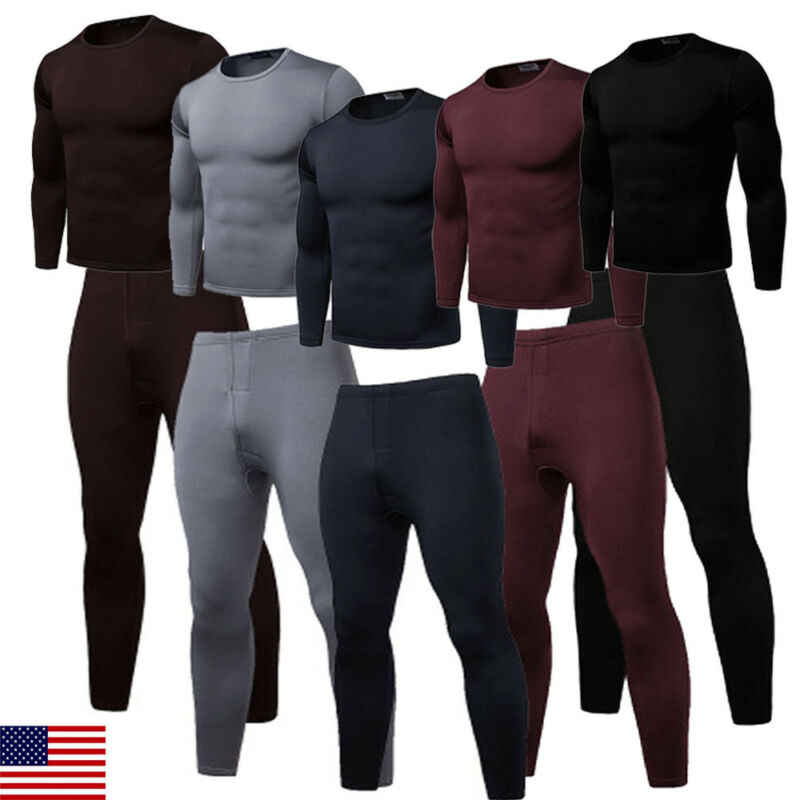 Winter long johns thick men thermal underwear sets keep warm for Russian Canada and European