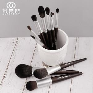 Image 2 - MyDestiny makeup brush black charm 13pcs animal hair brushes set for foundation blush powder eyeshadow etc   The Master Series