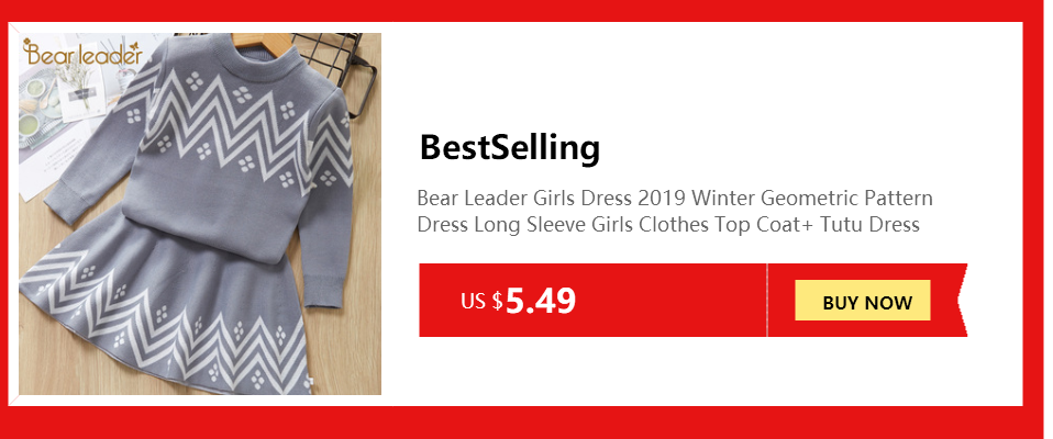 Hce65720469ef49fba1e76b629279445cT Bear Leader Girls Dress 2019 Winter Geometric Pattern Dress Long Sleeve Girls Clothes Top Coat+ Tutu Dress Sweater Knitwear 2pcs