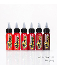 O.G tattoo ink Pigment Permanent Makeup Tattoos Ink red group For Body Art Paint Tattoo Color Inks 1oz/30ml Tattoo Supplies цена