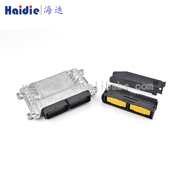 Free Shipping 90pin ECU Aluminum Enclosure Box And FCI PCB Male Female ECU Auto Connector