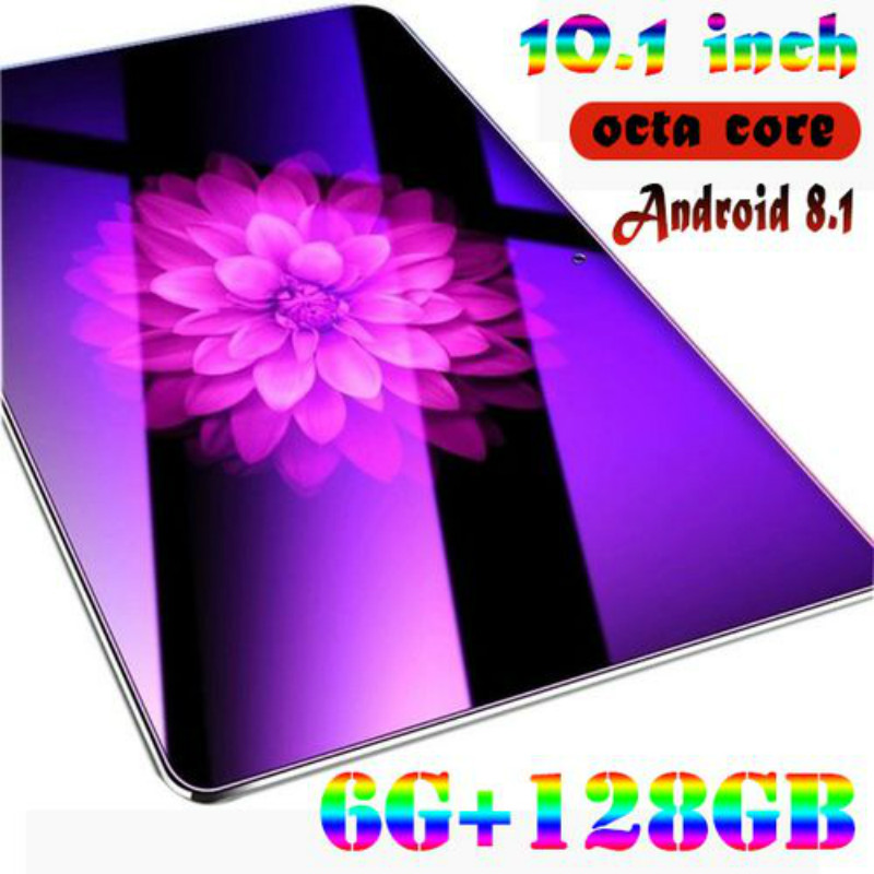 2020 New Hot 10.1 Inch 2.5 D Screen Tablet PC  4G LTE Octa Core 6GB RAM 128GB ROM Dual SIM Cards Android 8.0 GPS Tablet PC